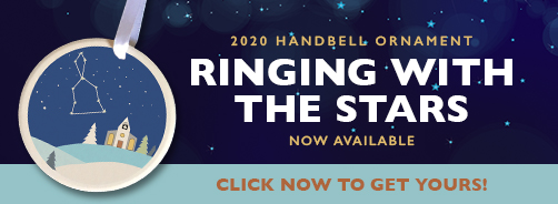2020 Ceramic Ornament - Ringing with the Stars