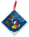 Santa Rings Ceramic Ornament