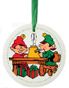 Elf Workshop Ceramic Ornament