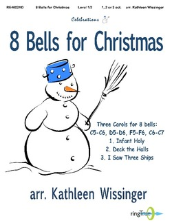 Handbell World 8 Bells For Christmas Wissinger Kathleen Various Handbell World