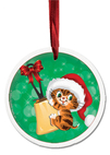 Ceramic Ornament Christmas Kitten
