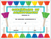 Achievement Certificate - Colored Bells