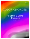 Color Chorded O Come O Come Emmanuel